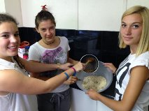 Making cookies in Emma's cooking elective