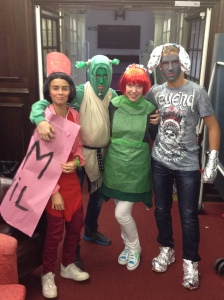 Due to popular demand, here is a late picture of the Shrek group from the film fashion night.