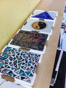 Students Glass Painting from Activities