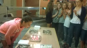 Eda blowing out candles