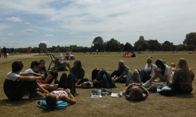Relaxing in Hyde Park