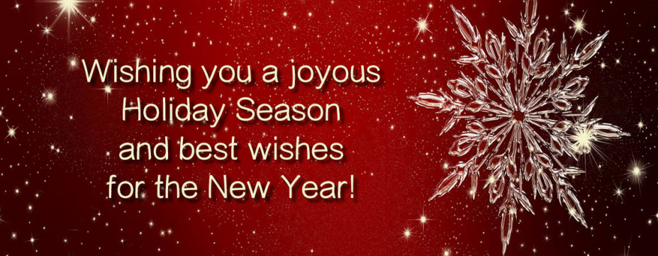Wishing you seasons greetings and happy new year
